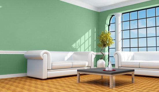 Casa y color visualizador de colores salon en verdes - Colores de pintura para salones ...