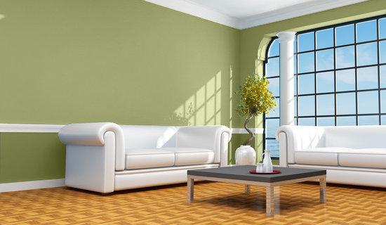 Casa y Color - Visualizador de colores - Salon en verdes