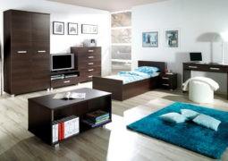 Combinar las paredes con muebles de maderas oscuras