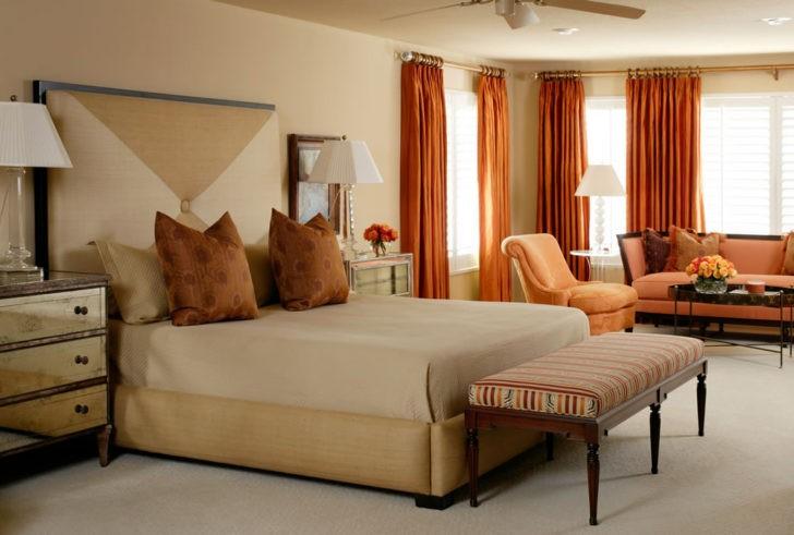 Gran dormitorio arena y calabaza