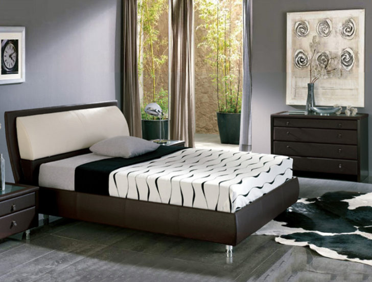 Muebles oscuros con gris