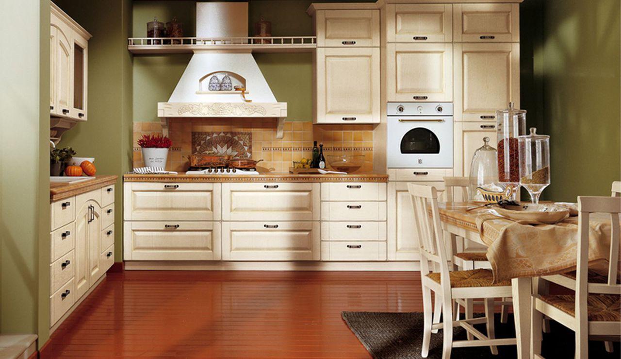 Dise os de cocinas cl sicas colores recomendados casa y color - Disenos de cocinas rectangulares ...