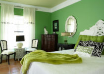 El color verde en pintura y decoración de interiores