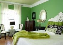 El color verde en interiores