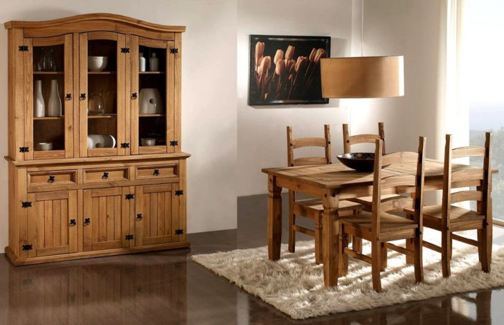 Elegantes interiores con muebles r sticos mexicanos casa for Decoracion de mesas de salon comedor