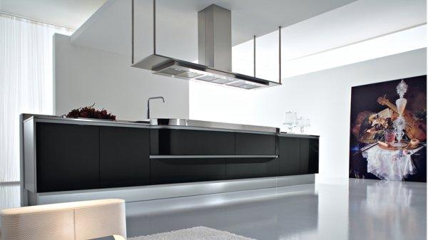 Dise os de cocinas modernas en blanco y negro casa y color for Cocinas integrales color negro