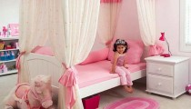 Dormitorios de niñas en tonos rosas