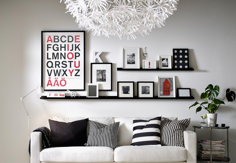 C mo colocar y distribuir los cuadros en la pared casa y color - Como colocar los cuadros ...
