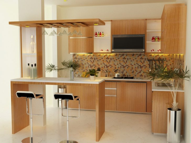 La cocina con desayunador perfecta casa y color for Maderas para cocinas
