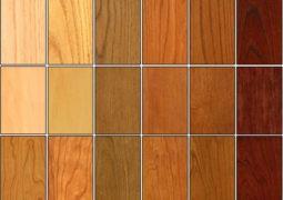 El tipo y color de la madera en interiores