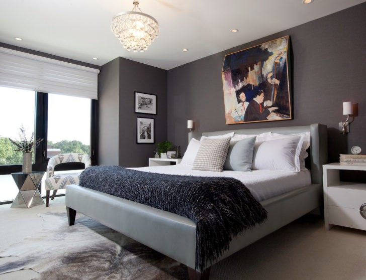 Dormitorio gris marengo