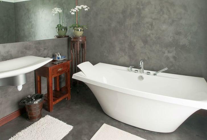 Microcemento pulido sobre alicatado casa y color - Suelo de microcemento pulido ...