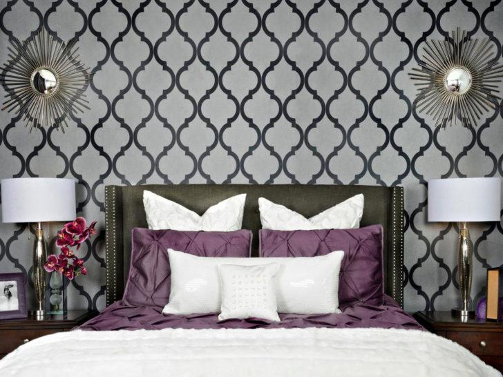 Dormitrio pared empapelda gris
