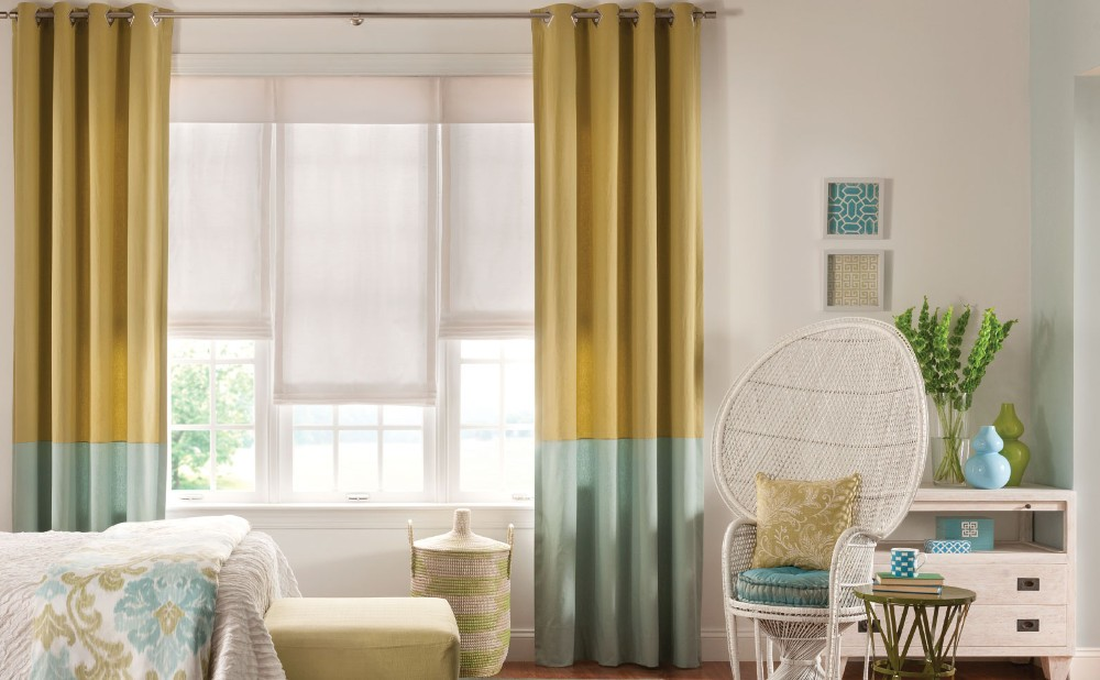 Tipos de cortinas para la sala o el dormitorio casa y color for Cortinas tipo visillo