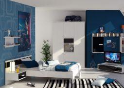 Dormitorios de niños en tonos azules y combinaciones