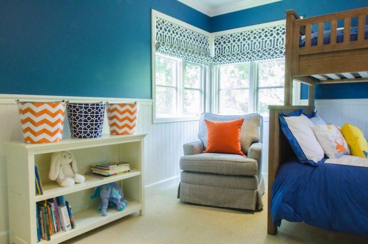 Habitación azul mobiliario infantil