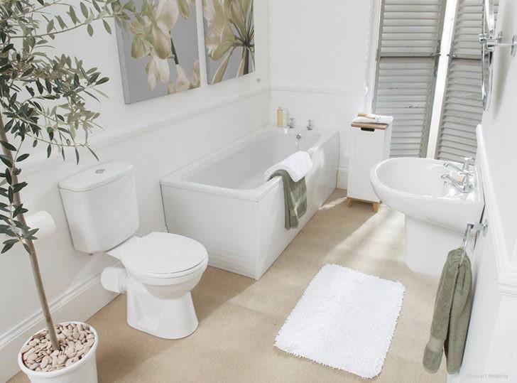 Baño pequeño blanco