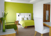 Paredes en color verde pistacho