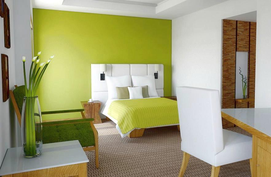 Paredes en color verde pistacho casa y color for Cocina verde pistacho