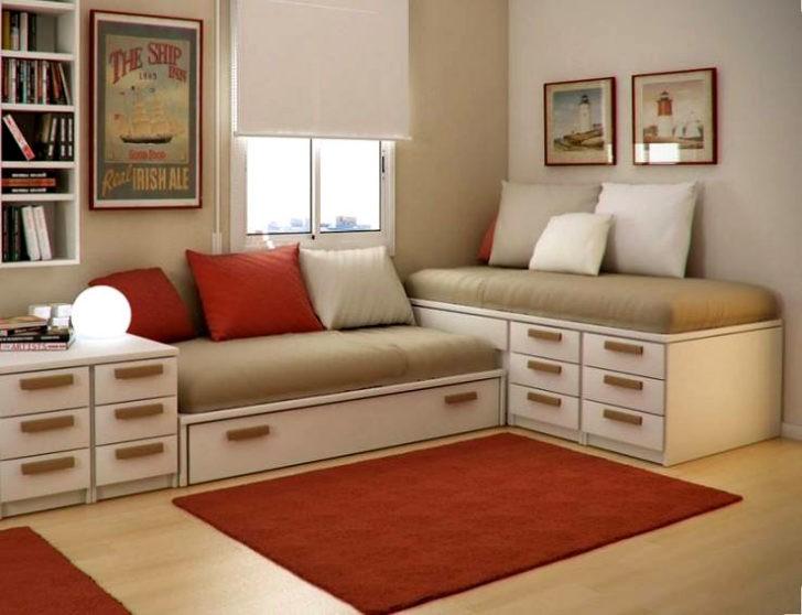 Compartiendo la habitaci n dise os de camas dobles y - Camas en l para ninos ...