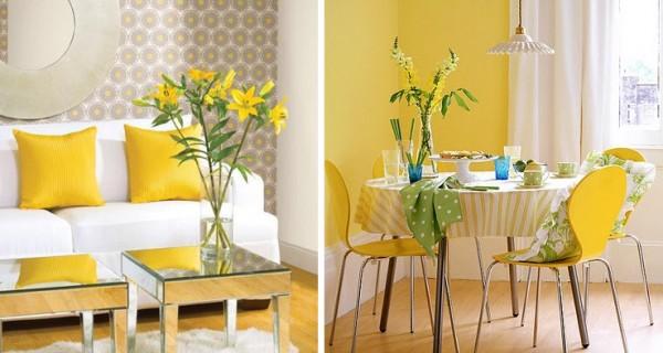 Decoracion en colores amarillos
