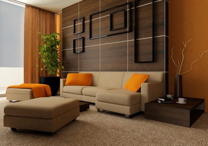 Interior naranja oscuro