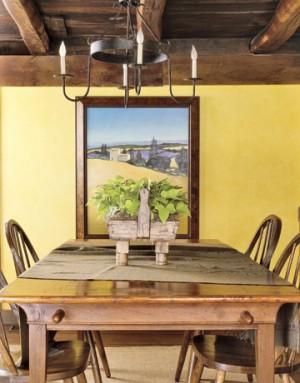 Interior rustico amarillo