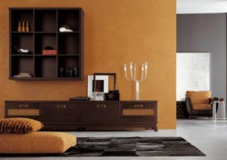 Color naranja calabaza para paredes interiores