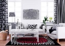 La combinación blanco y negro en interiores