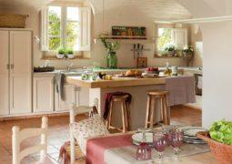 Cocinas de estilo mediterráneo, decoración y colores