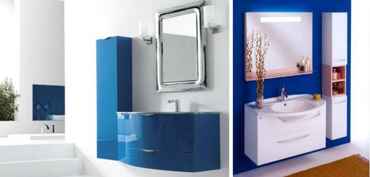 Baños en color azul