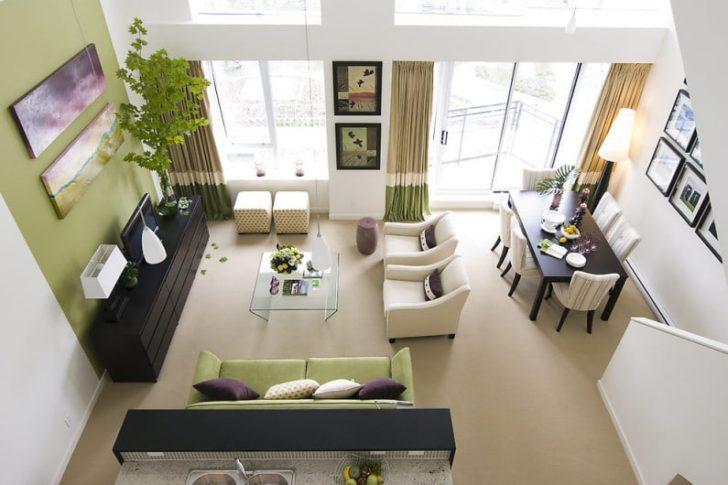Un ambiente: cocina, sala y comedor