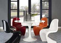 Las sillas Panton, algo de historia e ideas para usar en casa