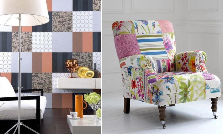 Patchwork en pared y sillón