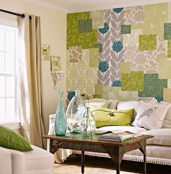 Patchwork en una pared