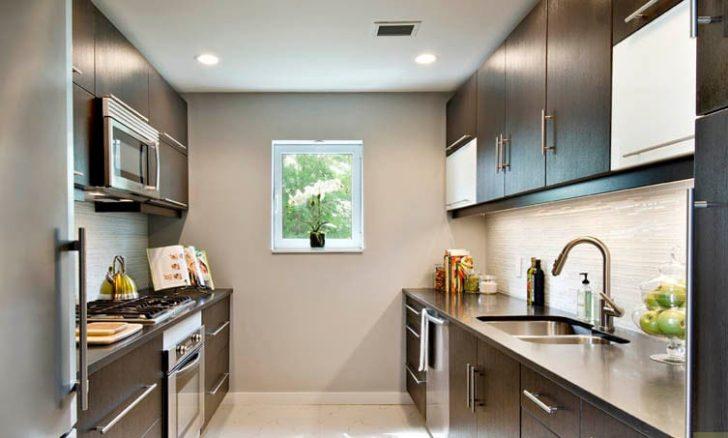Tipos de distribuciones de los muebles en cocinas casa y for Cocinas angostas