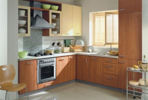 Tipos de distribuciones para cocinas casa y color for Simple small kitchen