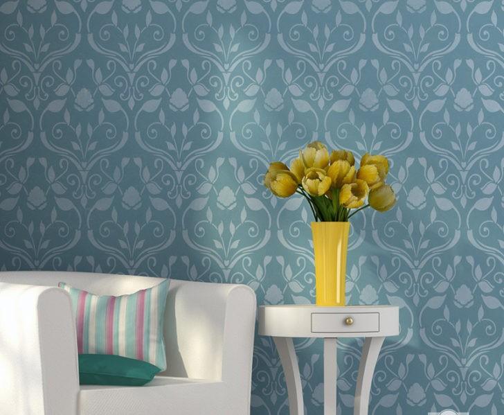 Decora las paredes con la t cnica del stencil pintando - Tecnicas para pintar una habitacion ...