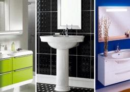 Propuestas en colores modernos para el baño