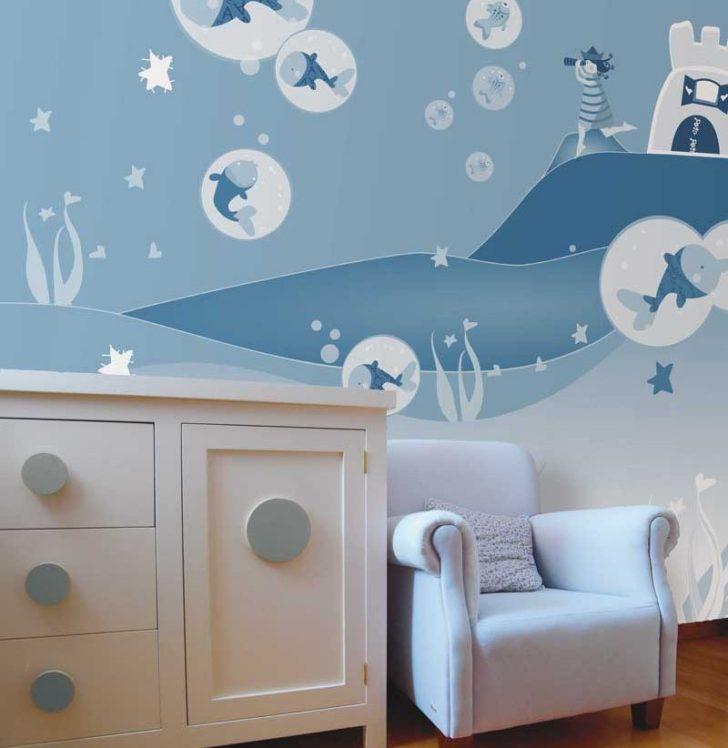 Pintura decorativa en cuarto infantil