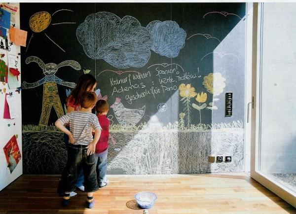 Decorando paredes de habitaciones infantiles casa y color - Pintura pizarra colores ...