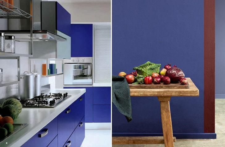 Color indigo en cocina