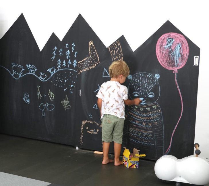 convierte las paredes en pizarras con pinturas especiales - Pared Pizarra