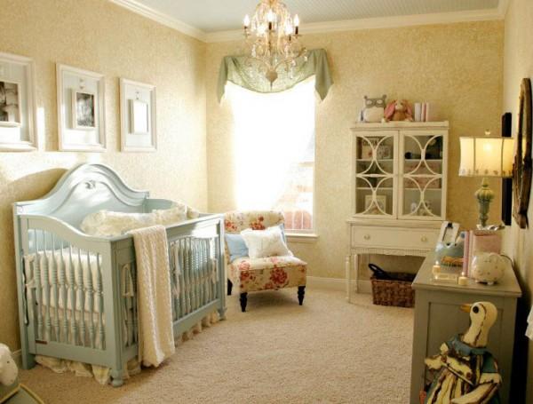 Cuartos de beb s al estilo shabby chic casa y color for Iluminacion habitacion bebe