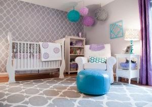 Habitaciónes de bebé en color lila o lavanda