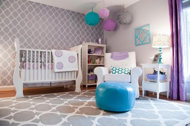Habitaci nes de beb en color lila o lavanda casa y color - Color de pintura para habitacion ...