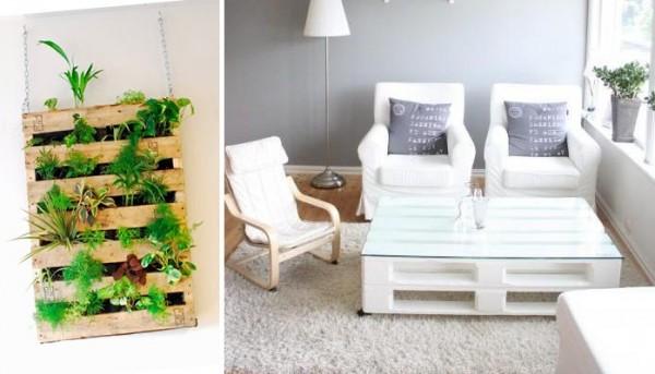 Decoraci n con madera ambiente exclusivo a bajo precio casa y color - Decorar con palets ...