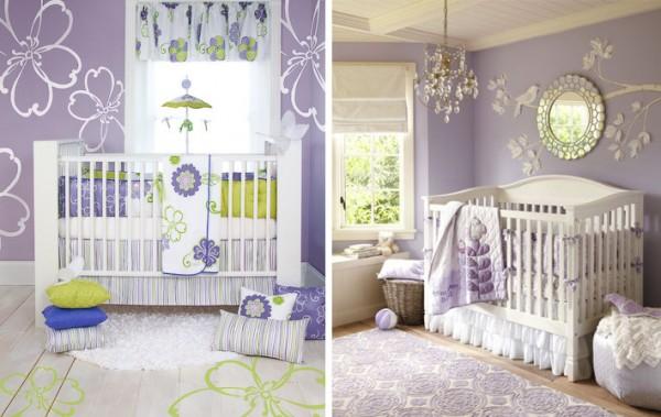 Habitaci n de beb en lavanda y blanco casa y color - Pintar habitacion bebe nina ...