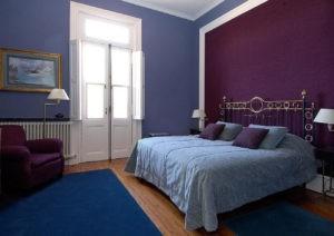 Pintura y decoración con violeta, combinaciones