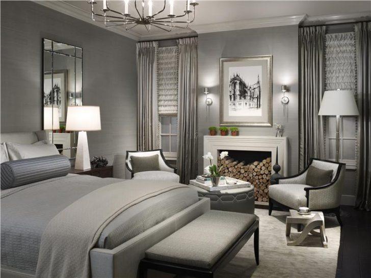 dormitorio elegantes gris